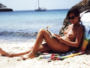 My wife Salome nude at the beach exposed for all the eyes