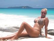 Big Tit Blonde Wearing Sexy Beachwear