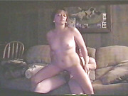 Dirty mature wife enjoying riding her man's dick on the sofa, then getting drilled in her ass
