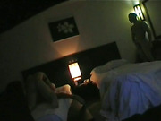 Noisy Thai hooker getting her pussy beat up by two hung white men, getting CIM and swallowing