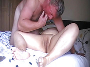 Deep creampie after hard POV finger fucking for mature BBW