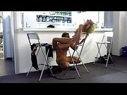 Milf babe enjoying cunnilingus at the gym